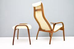 Yngve Ekstr m Lamino Lounge Chair with Stool Swedese 1956 - 987485