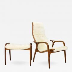 Yngve Ekstr m Lamino Lounge Chair with Stool Swedese 1956 - 988269