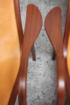 Yngve Ekstr m Pair of Swedish Teak and Leather Lamino Chairs by Yngve Ekstr m - 667435