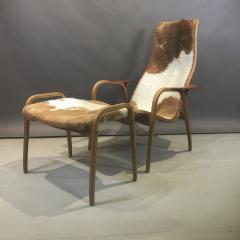 Yngve Ekstr m Yngve Ekstr m Cowhide Lamino Lounge Chair Ottaman Swedese - 1745639