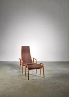 Yngve Ekstr m Yngve Ekstrom Lamino Chair with ottoman Sweden - 1018239