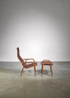Yngve Ekstr m Yngve Ekstrom Lamino Chair with ottoman Sweden - 1018240