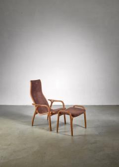 Yngve Ekstr m Yngve Ekstrom Lamino Chair with ottoman Sweden - 1018241