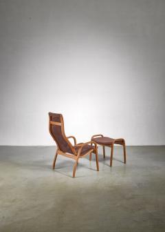 Yngve Ekstr m Yngve Ekstrom Lamino Chair with ottoman Sweden - 1018242