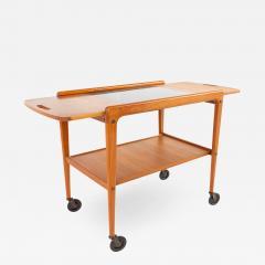 Yngve Ekstrom for Kellemo Danish Teak Drop Side Expanding Bar Cart - 1876948
