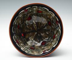 Yoichi Ohira Coppa nera con murrine e polvere Vase - 2137227