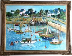Yolande Ardissone Le Port De Carnac Bretagne The Port Of Carnac Brittany - 1166330