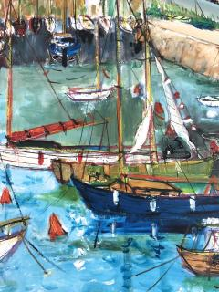 Yolande Ardissone Le Port De Carnac Bretagne The Port Of Carnac Brittany - 1166331