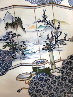 Yoshisuke Takeshige A Massive Japanese Arita Presentation Porcelain Plate Meiji Period - 955527