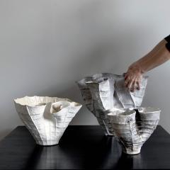 Young Mi Kim Pit fired Biomorphic Stoneware Vessel by Ceramicist Young Mi Kim - 1170225