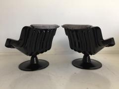 Yrjo Kukkapuro Pair of Yrjo Kukkapuro Swivel Lounge Chairs Model 3814 1KF - 1220318
