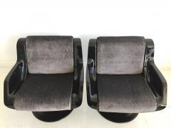 Yrjo Kukkapuro Pair of Yrjo Kukkapuro Swivel Lounge Chairs Model 3814 1KF - 1220319