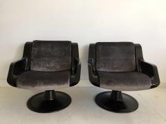 Yrjo Kukkapuro Pair of Yrjo Kukkapuro Swivel Lounge Chairs Model 3814 1KF - 1220321