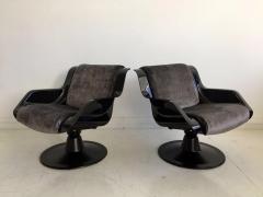 Yrjo Kukkapuro Pair of Yrjo Kukkapuro Swivel Lounge Chairs Model 3814 1KF - 1220322