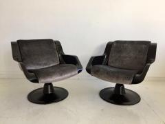 Yrjo Kukkapuro Pair of Yrjo Kukkapuro Swivel Lounge Chairs Model 3814 1KF - 1220324