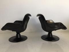 Yrjo Kukkapuro Pair of Yrjo Kukkapuro Swivel Lounge Chairs Model 3814 1KF - 1220325