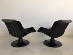 Yrjo Kukkapuro Pair of Yrjo Kukkapuro Swivel Lounge Chairs Model 3814 1KF - 1220326
