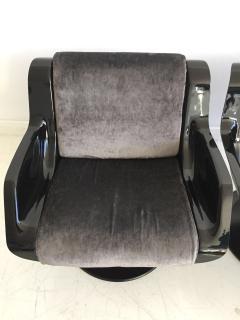 Yrjo Kukkapuro Pair of Yrjo Kukkapuro Swivel Lounge Chairs Model 3814 1KF - 1220328