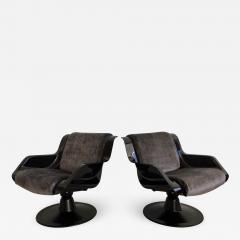 Yrjo Kukkapuro Pair of Yrjo Kukkapuro Swivel Lounge Chairs Model 3814 1KF - 1220894