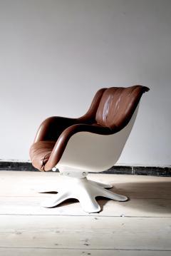 Yrjo Kukkapuro Swivel Tilt Lounge Chair by Yrj Kukkapuro for Haimi Finland 1960s - 2127726