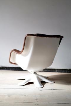 Yrjo Kukkapuro Swivel Tilt Lounge Chair by Yrj Kukkapuro for Haimi Finland 1960s - 2127727