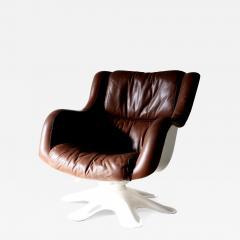 Yrjo Kukkapuro Swivel Tilt Lounge Chair by Yrj Kukkapuro for Haimi Finland 1960s - 2131988