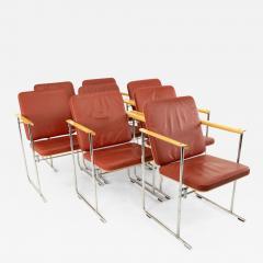 Yrjo Kukkapuro Yjro Kukkapuro Mid Century Dining Chairs Set of 8 - 1824270