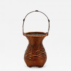 Yufu Shohaku Japanese Bamboo Basket Ikebana by Yufu Shohaku - 1106963
