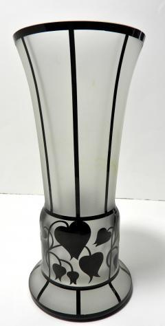 Zbynek Votocek Czech Hand Blown 8 Etched Vase by Zbynek Votocek - 626090