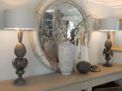 Zinc Pineapple Lamps - 1704614