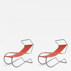 battista giudici Pair of Lido Lounge Chairs by Battista Giudici Locarno Switzerland 1936 - 1164082