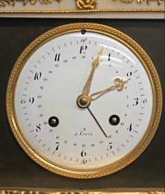 c 1800 Animated French Ormolu Patinated and White Marble Mantle Clock - 1276608