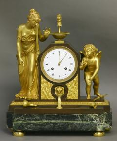 c 1810 Large French Ormolu Patinated and Marble Mantle Clock - 1184068