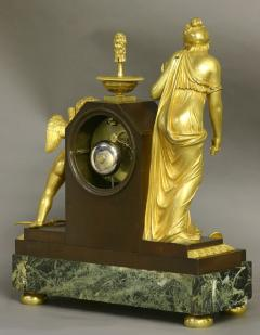 c 1810 Large French Ormolu Patinated and Marble Mantle Clock - 1184070