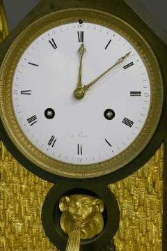 c 1810 Large French Ormolu Patinated and Marble Mantle Clock - 1184074