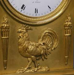 c 1815 Large French Ormolu Patinated Bronze and Red Variegated Mantle Clock - 1276558