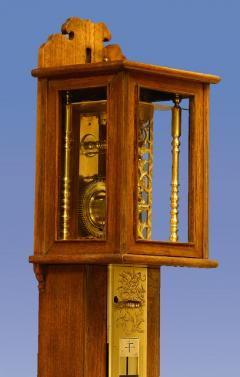 c 1850 Massive Japanese Striking Stick Clock - 1276591