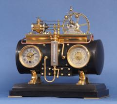 c 1900 French Automated Industrial Boiler Clock  - 1193004