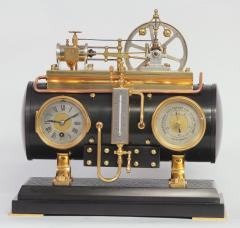 c 1900 French Automated Industrial Boiler Clock  - 1193008