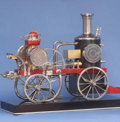c 1900 French Industrial Fire Engine Clock - 1184030