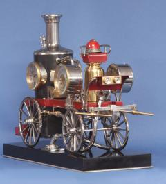 c 1900 French Industrial Fire Engine Clock - 1184031