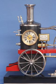 c 1900 French Industrial Fire Engine Clock - 1184032
