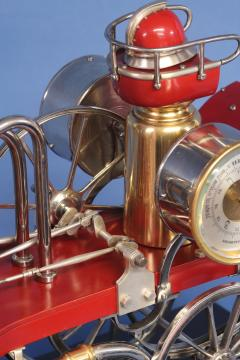 c 1900 French Industrial Fire Engine Clock - 1184046