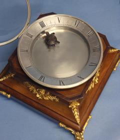 c 1925 French Mahogany Mystery Turtle Clock - 509957