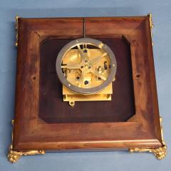 c 1925 French Mahogany Mystery Turtle Clock - 509958
