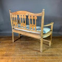 c1900 Swedish Art Nouveau Rural Pine Bench Vintage Grainsack Seat - 1350986