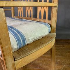 c1900 Swedish Art Nouveau Rural Pine Bench Vintage Grainsack Seat - 1350988