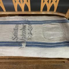 c1900 Swedish Art Nouveau Rural Pine Bench Vintage Grainsack Seat - 1350989