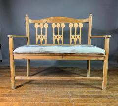 c1900 Swedish Art Nouveau Rural Pine Bench Vintage Grainsack Seat - 1350990