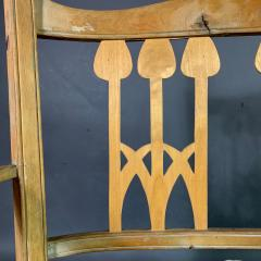 c1900 Swedish Art Nouveau Rural Pine Bench Vintage Grainsack Seat - 1350991